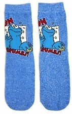LADIES SESAME STREET OH CRUMBS! COOKIE MONSTER SOCKS UK 4-8 EUR 37-42 US 6-10
