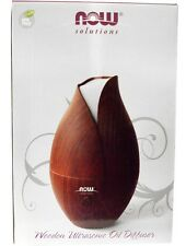 Now Foods Solutions, Wooden Ultrasonic Oil Diffuser - Aromatherapy