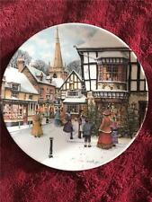 ROYAL DOULTON CHRISTMAS TREE PLATE COLIN WARDEN VICTORIAN CHRISTMAS BOXED