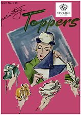 Vintage 1940s wartime crochet patterns-toppers, hats, bags ,hat pins etc, repro.