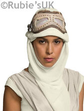 Adulto Oficial Star Wars Force despierta Rey Máscara De Ojos Y Capucha Fancy Dress Accesorio