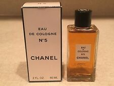 NEW Vintage CHANEL No. 5 Eau de COLOGNE 2oz/60ml Perfume SPLASH Bottle IN BOX