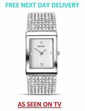 Seksy By Sekonda Krystal Ladies Watch 2375 Silver Crystal Swarovski Watch