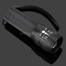 Mini Outdoor 2000 Lumen Zoomable 3-mode LED Flashlight Torch Lamp Light U2YL