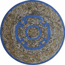 Round Wall Floor Tabletop Medallion Marble Mosaic MD1766