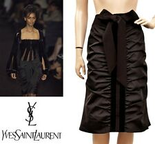 TOM FORD for YVES SAINT LAURENT RIVE GAUCHE SILK TAFFETA & VELVET SKIRT 38