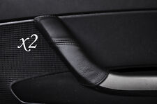 BLACK STITCHING FITS PEUGEOT 308 2007-2012  2X DOOR HANDLE LEATHER COVERS ONLY