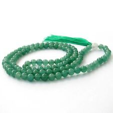 6mm Green Aventurine Gem Tibet Buddhist 108 Prayer Beads Mala Necklace