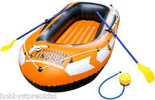 Inflatable Dinghy Boat Inflatable Dingy Boat with Pump and Oar 235 x 240cm New