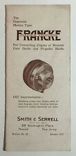 Francke Marine Type Flexible Couplings Brochure, Smith & Serrell, Newark NJ 1927