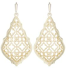 Kendra Scott Addie Teardrop Dangle Earrings in Gold Plated Filigree
