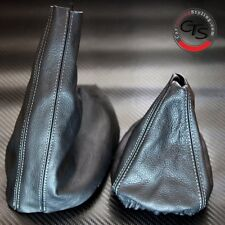 BMW E46 1998-2005 GREY STITCH GEAR GAITOR SHIFT BOOT HANDBRAKE GAITER SET