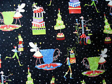 """VTG Cotton Quilt Fabric """"Christmas Magic"""" by Kym Bowles for Marcus Brothers HY"""