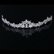 Bridal Tiara Rhinestone Crystal Flower Crown Headband Wedding Prom Party
