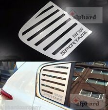 Silver Line Stripe C Pillar Glass Molding Window Plate for 2017 KIA SPORTAGE