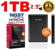 "New 1TB 2.5"" HITACHI HGST Touro External Hard Disk Drive 1000GB USB3.0 & 2.0"