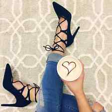 Jeffrey Campbell Brielle Lace-Up Suede Pump size 7 new in box