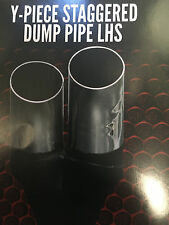 "2x 3""(76mm)OUT 2 1/4""(63mm)IN Y-PIECE STAGGERED DUMP  LHS CHROME EXHAUST TIP"