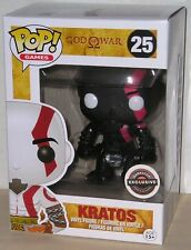 FUNKO POP 2015 GAMES GOD OF WAR KRATOS #25 BLACK GAME STOP EXCLUSIVE In Stock