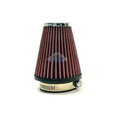"S&B High Performance Cone Chrome Pod Universal Red 2-1/4"" inlet 57mm Air Filter"