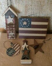 Primitive Country Americana Flag Star Collection