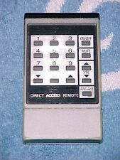 A DIRECT ACCESS CATV CHANNEL TO TV SET CHANNEL Remote Control