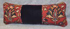 Pillow made w Ralph Lauren Poet Society Tapestry & Navy Blue Velvet Fabric 19x7