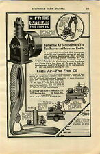 1920 AD Curtiss Air Compressor Pneumatic St Louis Car Automobile Old Sol Lamp