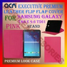 ACM-EXECUTIVE LEATHER CASE for SAMSUNG GALAXY TAB E 9.6 T561 COVER STAND - PINK