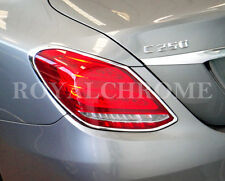 MERCEDES BENZ NEW 4 DOOR SALOON C CLASS W205 CHROME REAR LIGHT TRIMS X 2 2014 on