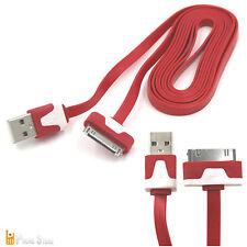 2M kabel Reißfest USB Ladekabel 2 Meter iPhone 4,4s,iPad 1,2,3,iPod 2,3,4 Rot
