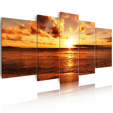 5 pieces Canvas Prints Wall Art Painting Picture-Sunrise Seascape Unframed A+