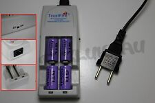 4 PILES ACCUS RECHARGEABLE CR123A 16340 3.7V 2300mAh + CHARGEUR TR-001 TRUSTFIRE