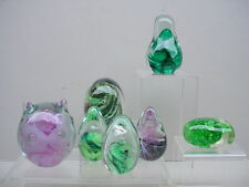 BEAUTIFUL COLLECTION *7* KERRY GLASS IRELAND (+) ART GLASS SWIRL PAPERWEIGHTS!!