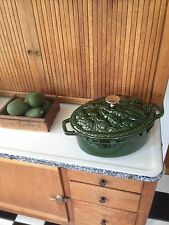 RARE Staub Vegetable Cocotte 4.25 Qt Basil Green NEW casserole dutchoven roaster