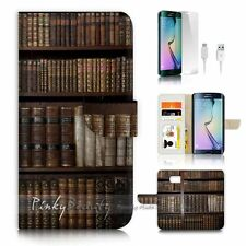 Samsung Galaxy ( S7 Edge ) Flip Wallet Case Cover P1462 Old Book Shelf