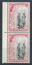 Swaziland 1961 Sc# 71 Courting couple overpr pair MNH