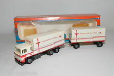 TEKNO SCANIA 141 TRUCK WITH TRAILER RUTGES VERY NEAR MINT BOXED RARE SELTEN RARO