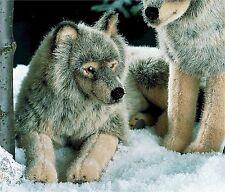 Kösener 3850 - Wolf liegend 41 cm Kuscheltier Stofftier Plüschtier