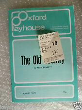 1977 Theatre Programme+Ticket THE OLD COUNTRY- A Bennett,Alec Guinness,F Brook