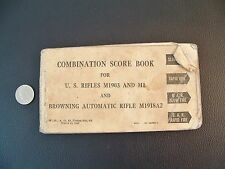 WWII US Army Combination Score Book Rifles M1903 M1 Browning Auto. Rifle M1918A2