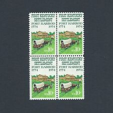 Fort Harrod, First Kentucky Settlement 1774 Mint Set of 4 Stamps 43 Years Old!