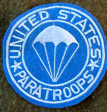 WWII US 11TH 82ND 101ST US AIRBORNE PARATROOPER JACKET POCKET PATCH INSIGNIA