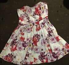 Ladies Passion Flower Size 10 Lipsy Of London Strapless Short Dress