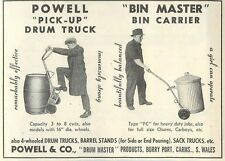 1953 Powell & Co Burry Port Carms S Wales Drum Trucks Ad