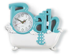 Bathroom Wall Clock Bath Powder Room Hanging Home Accent Decorative Colorful New