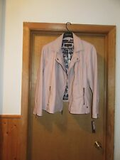 Long Sleeve Full Zip Lined Jacket 2X Black Rivet Vintage Pink 100% Polyurethane