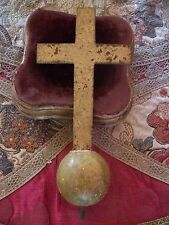 RARE FRENCH ANTIQUE 19th CENTURY GILDED  RELIGIOUS CROSS & ORB