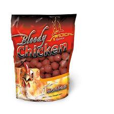 Bloody Chicken Boilie 1kg 20mm Boilies Radical Quantum Karpfen-Futter Angeln