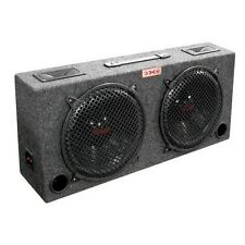 "Audiopipe KIC80 Woofer Box Dual 8"" XXX 2-Way Loaded Angle Style; 250Watts"